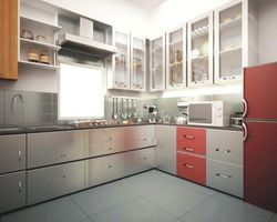 L Shape Italian Modular Kitchen