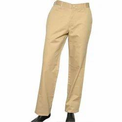 Men Cotton Plain Trouser