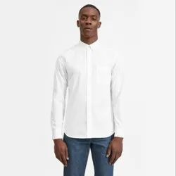 Male Full Men's White Collar Cotton Shirts