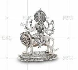 Silver Plated Maa Durga Murti