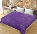 Saavra Blue Color Cut Work Cotton Double Bedsheet