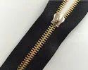 Black Tape Metal Zipper