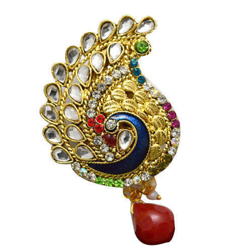 26045a500c4 Vama Peacock Design Saree Brooch, Rs 40 /piece, Vama Creation | ID ...