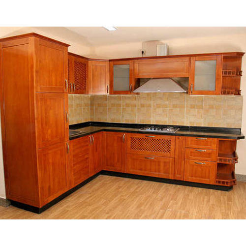 Wooden Kitchen Furniture Photos: Rubber Wood Modular Kitchen At Rs 500 /square Feet