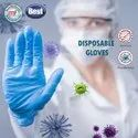 Nitrile Rubber Disposable Gloves byPureNaturals - Pack of 100 Pcs