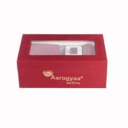 3 Pc Men's Multi Stare Maroon Aarogyaa Micro Zacard Silk Tie Neck Set Cuff Links Scarf