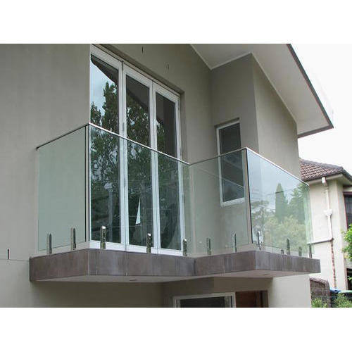 Panel Balcony Glass Railing, Rs 650 /running feet, Kundan ...
