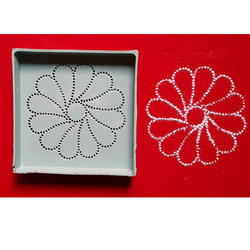 Flower Easy Rangoli Pattern