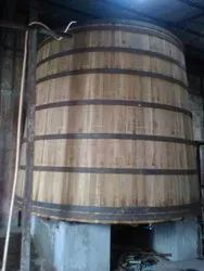 10 Feet New American White Oak Wood Vat, For Industrial, Capacity: 1000 To 50000