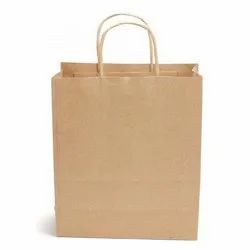 Brown Paper Craft Bag, For Shopping, Capacity: 1kg