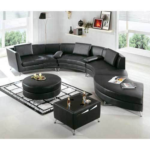Curved Leather Sectional Sofa L Type