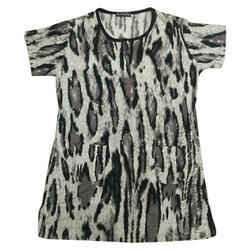 Cotton Printed Ladies Top, Size: S & XL