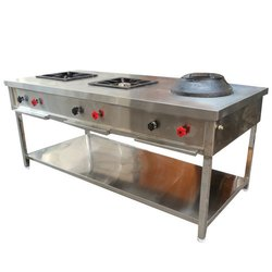 Three Burner Indochinese Cooking Range