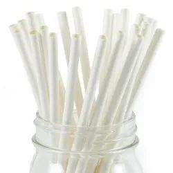 10 mm Drinking White Paper Straw