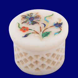 Marble Jaali Jewelry Box