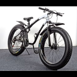 21 Gear Fat Bike Black Colour