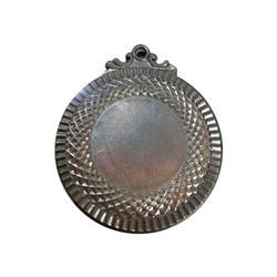 Sports Round Silver Plated Medal