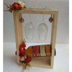Glass Wooden Box