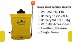 Plantis single pump battery sprayer - 12V:08A