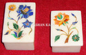 Inlay White Marble Box, For Home