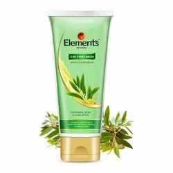 Herbal Tube Elements 3 in 1 Face Wash Gel, Packaging Size: 60 g