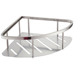 Btc Royal Silver Ss Single Bathroom Corner Shelf Rs 450 Piece Id 18974246462