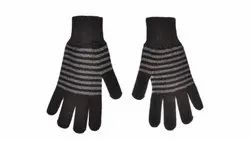 VP Oswal Striped Woolen Gloves