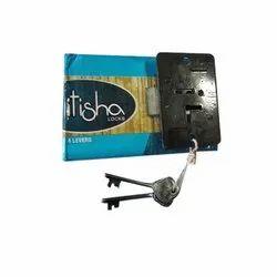 Itisha Iron 4 Lever Cupboard Lock, Black Powder Coating