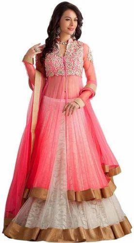 23c7018ee43 Rasam Pink And Cream Embroidered Lehenga Choli