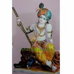 White unique  Marble Krishna Statue
