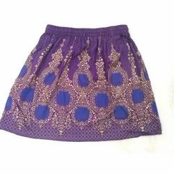 Ladies Printed Mini Skirt