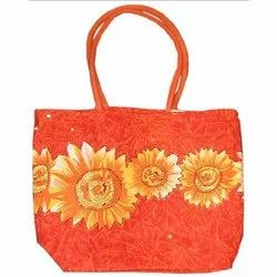 Canvas Bag with Embroidery and Sequins
