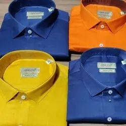 Pure Cotton Full Sleeve Mens Cotton Formal Wear Shirt, Size: M-XXL