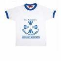 Meghdoot Summer Printed Uniform T Shirt, For School