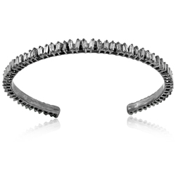 27f5c9a2e MetaRock Jewels 925 Silver Baguette Diamonds Handmade Solid 925 Sterling  Silver Cuff Bangl.