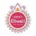 Vinyl Buy Diwali Stickers Online At Low Prices, Packaging Type: Box