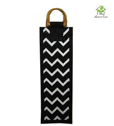Black Color Jute Wine Bag
