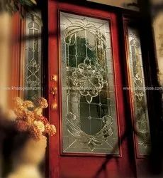 Textured Decorative Glass for Main Entrance, Thickness: 20 Mm - 26 Mm