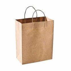 Paper Brown Designer Shopping Bags, Capacity: 1-2 kg