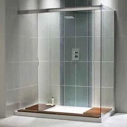 Transparent 3*6 Feet Designer Bathroom Glass