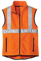 Green And Orange Polyester Reflective Jacket, Packaging Type: Poly Bags