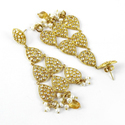 Tempting 925 Sterling Silver Gold Plated Earrings