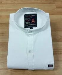 Mens White Plain Shirts