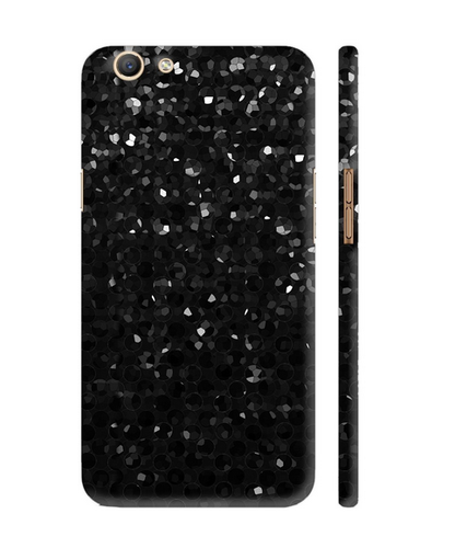 best service 32e88 514dd Colorpur Black Crystal Strass Print Artwork On Oppo F3 Cover