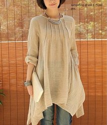44-45 White Organic Cotton Khadi Garments, Packaging Type: Packet, GSM: 100-150 GSM