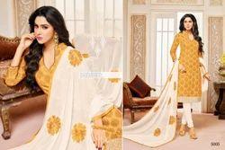 Collar Neck Mallika Suit Salwar Fabric