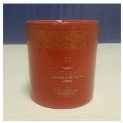 Ceramic Cylindrical Red Mug