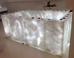 White Quartz Bathtub