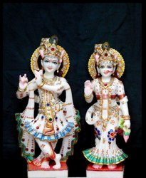 Lord Radhe Krishna Marble Statue