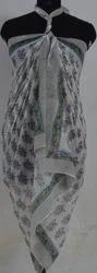 Hand Block Printed Cotton Bikini Wrap
